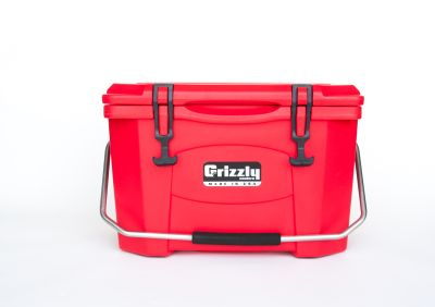 Grizzly 20 Quart Cooler – Red/Red