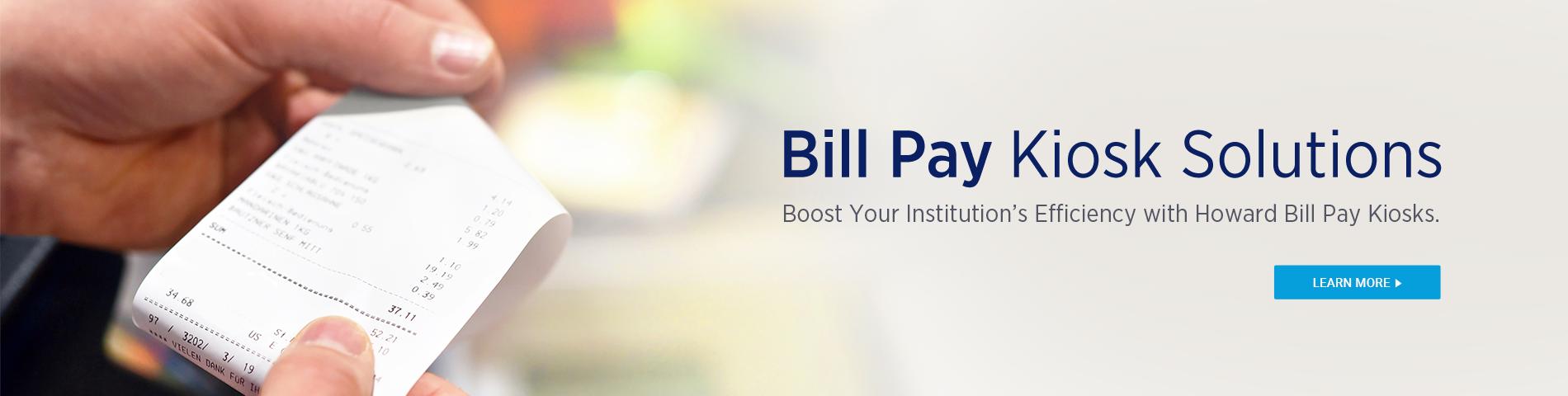 Howard Bill Pay Kiosk Solutions