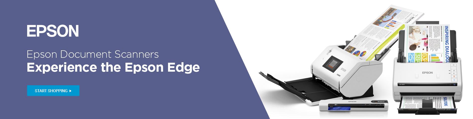 Epson Document Scanners - Experience the Epson Edge