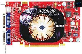 Graphics Card, PCIe, Nvidia, NX8600GT, 256 DDR2, dual DVI Out, S-video out, HDTV ready, Comes with 1 DVI/VGA, S- Video cable, component cables