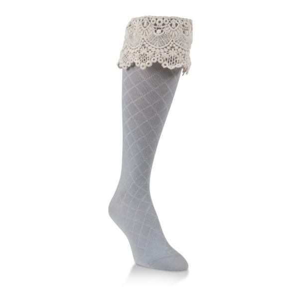 World's Softest Socks Sassy Knee High- Gray 085 image