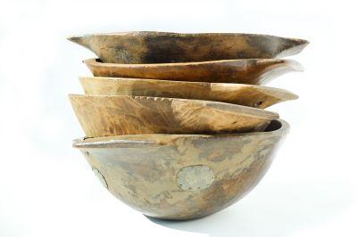 Authentic 20th Century Hand-hewn round European bread bowl - Image 4: image 4