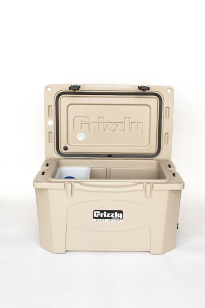 Grizzly 40 Quart Cooler – Tan/Tan - Image 3: image 3