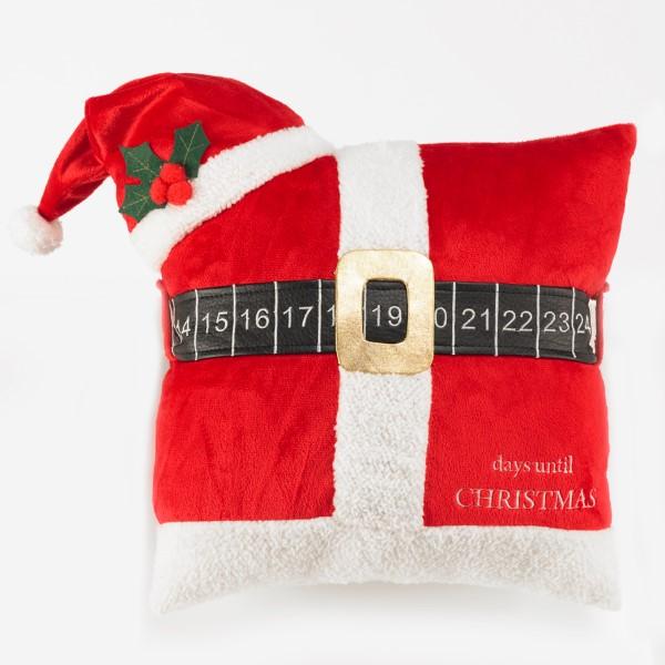 Santa Belt Calendar Pillow image