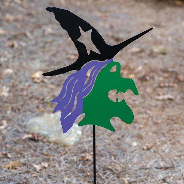 Halloween Witch Garden Stake image
