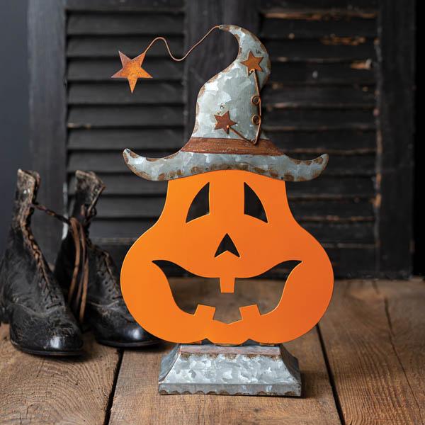 Halloween Galvanized Pumpkin Tabletop Decor image