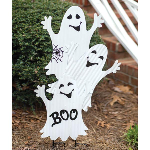 Halloween Three Ghosts Garden Stake image