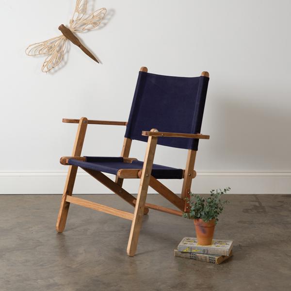 Navy Canvas Folding Chair