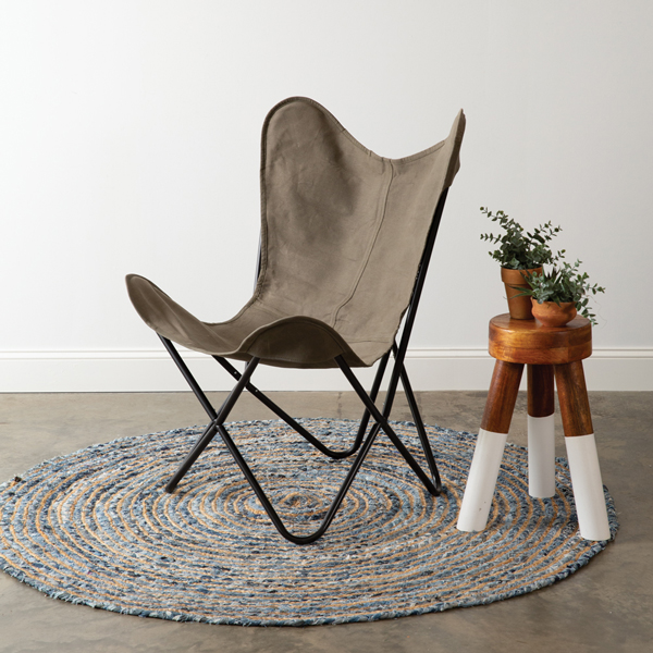 Green Canvas Butterfly Chair