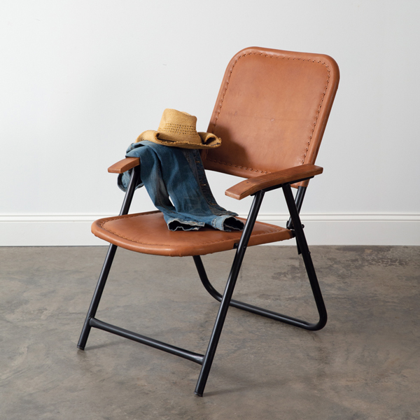 Vintage Folding Leather Chair