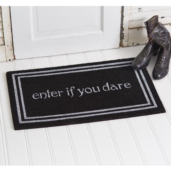 Enter If you Dare Halloween Doormat image