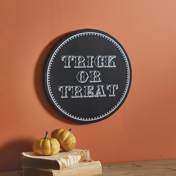 Halloween Trick-or-Treat Plaque image
