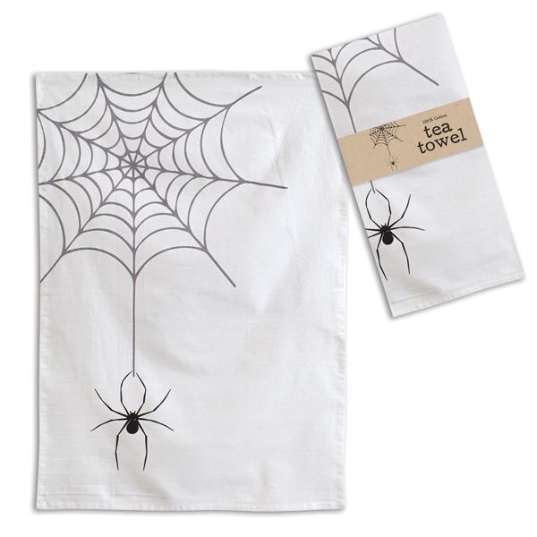 Halloween Spider Web Tea Towel- Box of 4 image