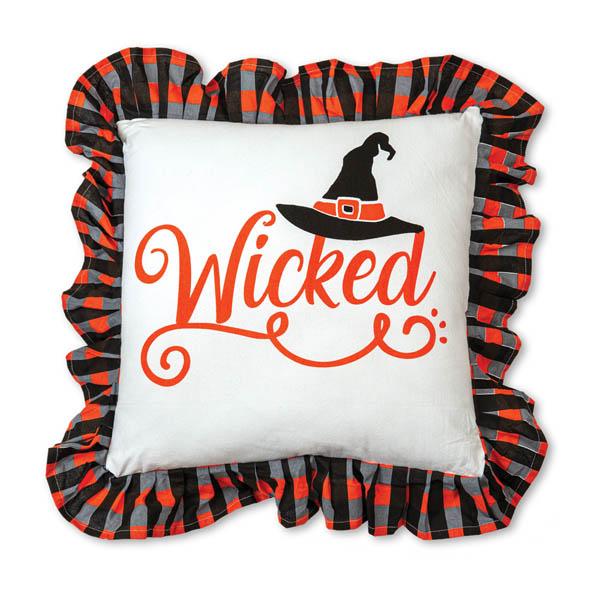 Halloween Wicked Cotton Throw Pillow image