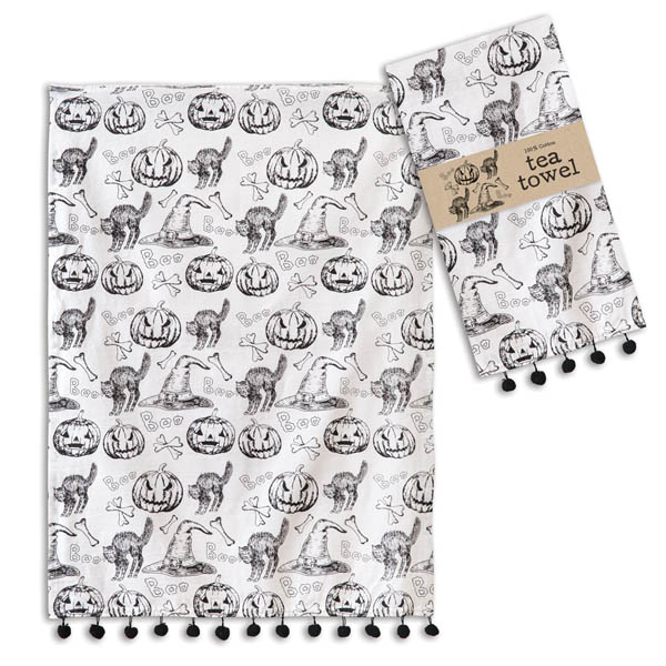 Halloween Pattern Tea Towel - Box of 4 image