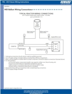 Product Information Bulletin - HID Fixutre Wiring Instructions