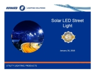 Solar LED Roadway